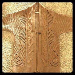 Old Navy Camel One Button chunky cardigan